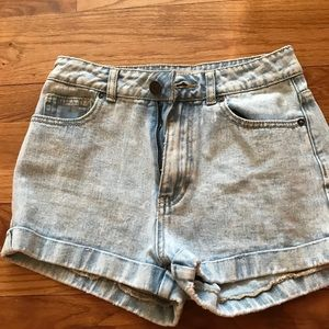 Bullhead High Waisted Jean Mom Shorts
